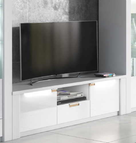 Ice White High Gloss TV Unit P9RXAR63 - 2914
